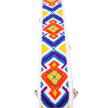 White & Blue Southwest Vintage Ribbon Multi Purpose Skinny Strap