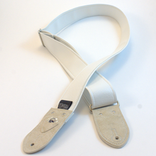 Classic White and Cream Guitar Strap