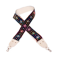 Black & Cream Velvet Southwest Vintage Ribbon Camera Strap