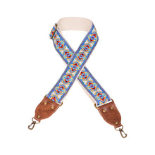 Blue & Brown Southwest Vintage Ribbon Camera Strap