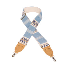 Blue and Tan Saddleblanket Camera Strap