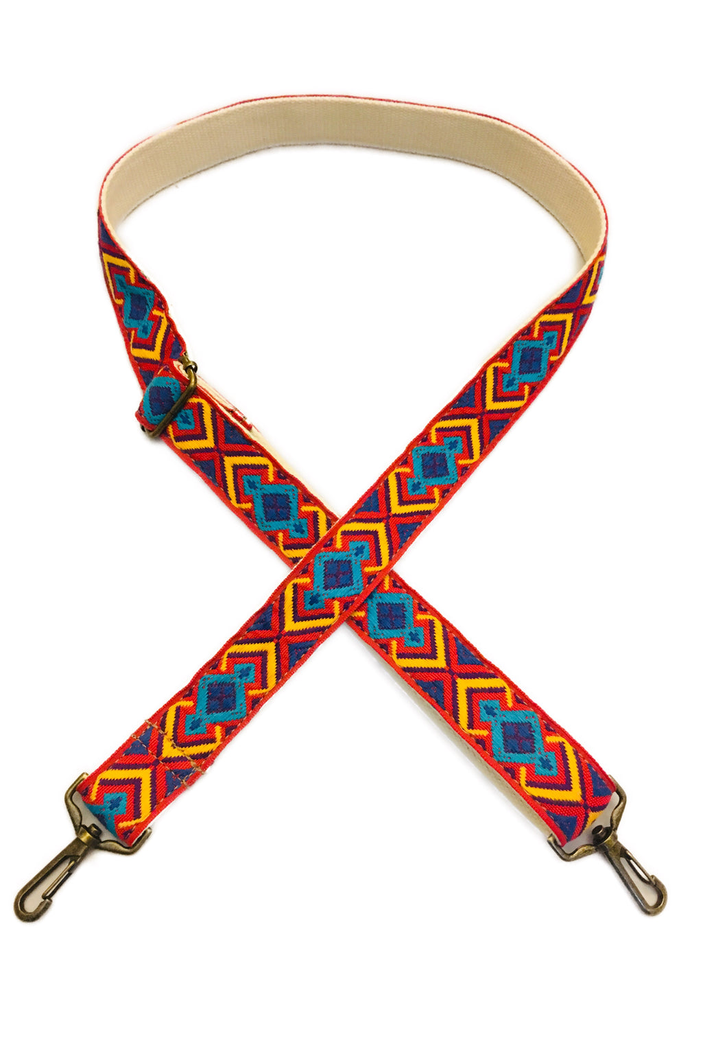 Red Southwest Vintage Ribbon Multi Purpose Skinny Strap