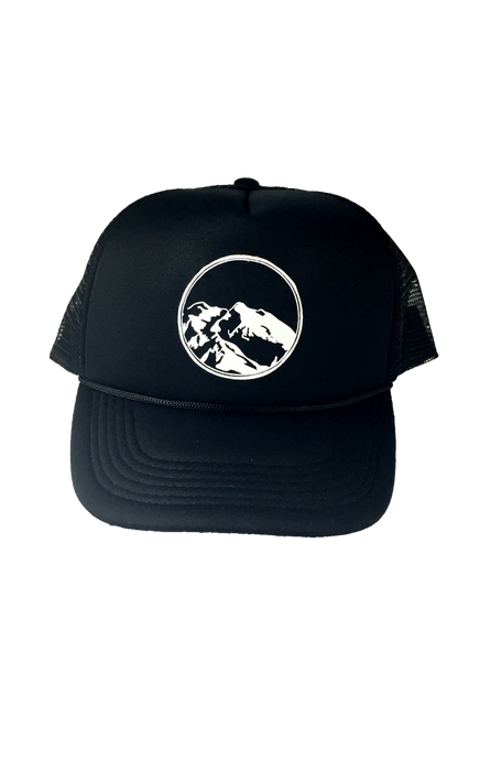 Mountain Logo Trucker Hat - Black