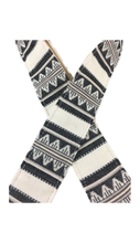White & Black Saddle Blanket Guitar Strap