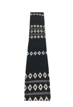 Black & Cream Saddle Blanket Guitar Strap