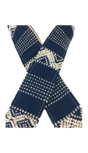 Blue & White Saddle Blanket Guitar Strap