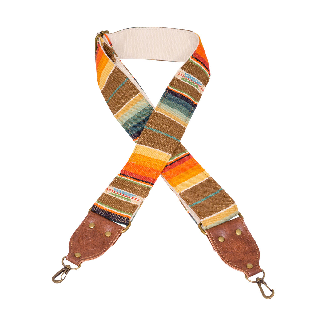 Southwest Multi Colored Saddle Blanket Camera Strap