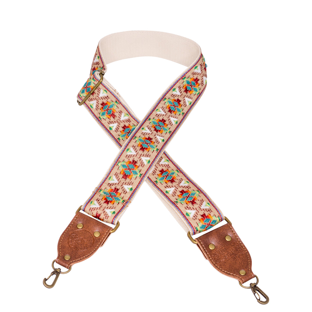 Tan & Brown Southwest Vintage Ribbon Camera Strap
