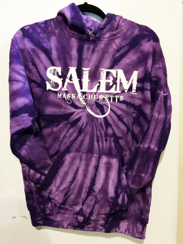 Salem purple Tie Dye Hooded Sweatshirt
