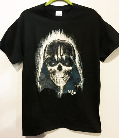 """Death Star"" is a unique illustration of the famous villain character Darth Vader. This design is a concept of the fallen villain that has risen again and ready to dominate the world. 16 ounce 100% Preshrunk Cotton T-Shirt, hand screen printed with plastisol ink."