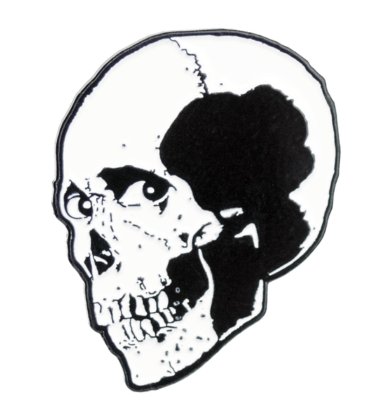 Evil Head Enamel Pin