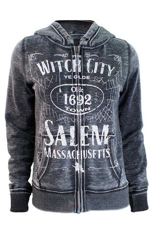 Witch City Burnout Zip Up
