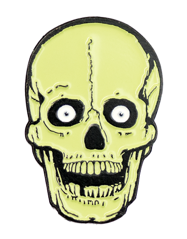 Green Skull Enamel Pin