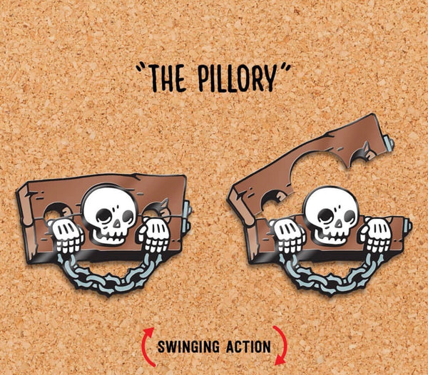 The Pillory - Enamel Pin
