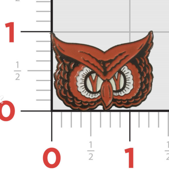 Orange Owl Enamel Pin
