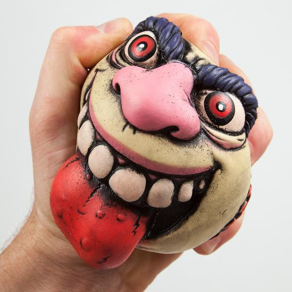 "They're gross, funny, yucky and sick! Madballs and Kidrobot present the Madballs 4"" foam figures. Featuring fan favorites Dust Brian, Horn Head, Oculus Orbus, Screamin Meamie, Skull Face and Slobulus these squeezable foam balls are a must have for any gross out collection!!"