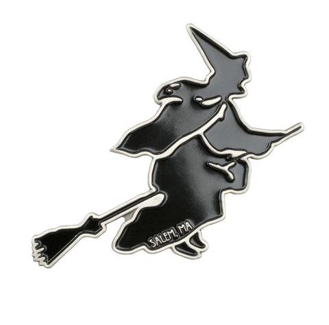 Vintage Witch Enamel Pin