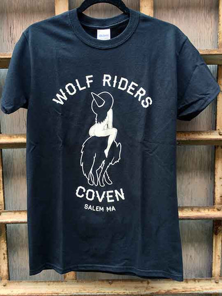 corpse, tits, wolf coven,Join the sacred coven of the wolf riders with this official members only design. Based on a drawing by artist @corpstits. 16 ounce 100% Preshrunk Cotton T-Shirt, hand screen printed with plastisol ink.