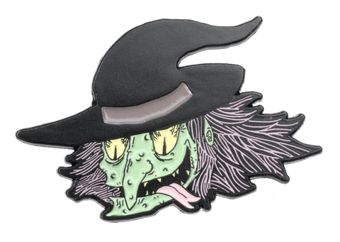 Grinning Witch Enamel Pin