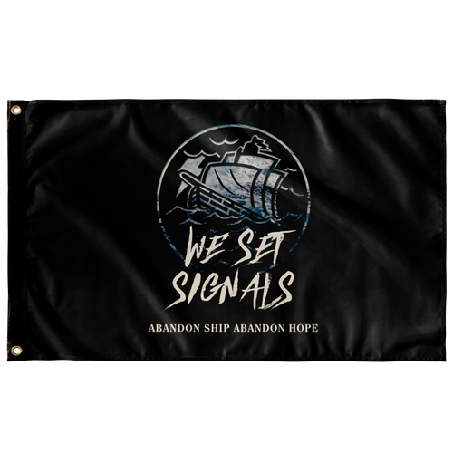 We Set Signals - Wall Flag
