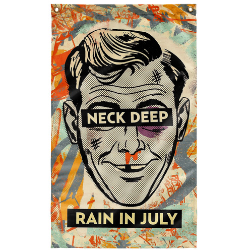 Neck Deep - Rain In July Flag