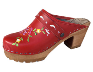 High Heel Lugged Mountain Hand Painted Tessa Clog