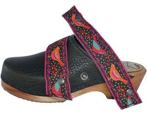 Tessa Ribbon Snap Straps to Accessorize your clogs - made in Minturn, CO