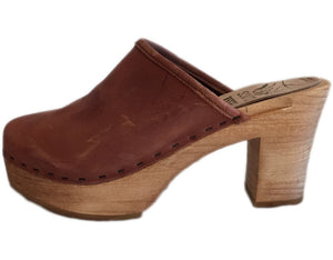 Ultimate High Solid Tessa Clog, 3 inch heel made in MInturn, CO