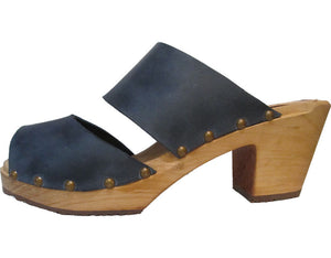 High Heel 2 Strap Sandal Clog - made in Minturn, Colorado