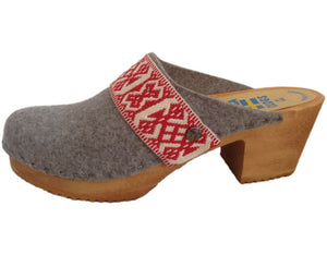 High Heel Felt Wool Clog made in Colorado
