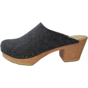 High Heel Felt Wool Anthracite
