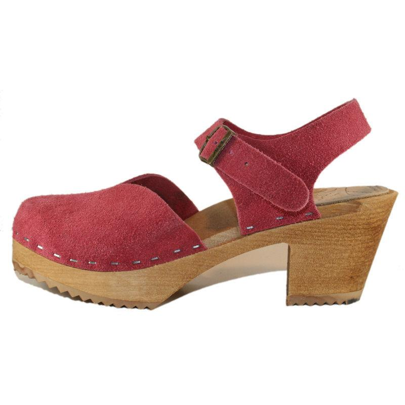 High Heel Berry Suede Moa Sandal