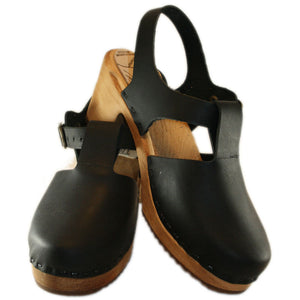 Clog Sandals Tessaclogs Black Leather