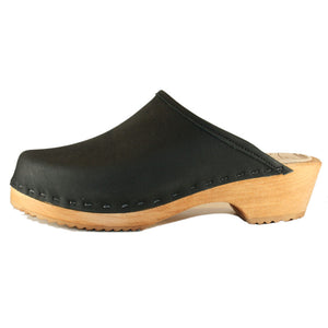 Black Oil Traditional Heel