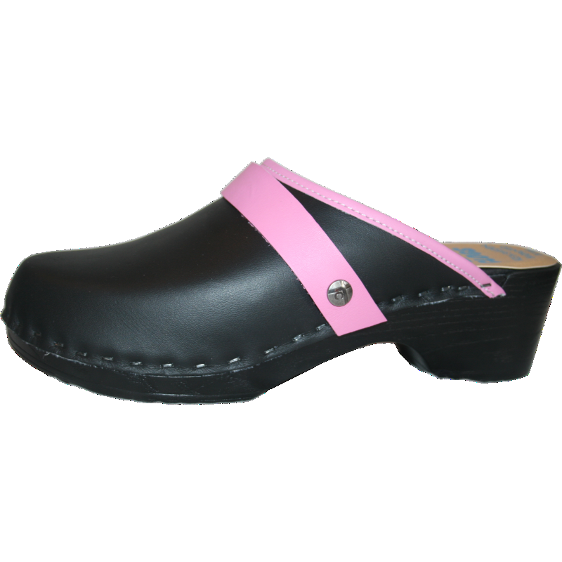 Tessa Clogs in a polyurethane flexible sole and padded innersole