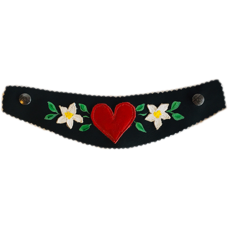 Sewn Extra Wide Snap Strap with Alpine Heidi Design