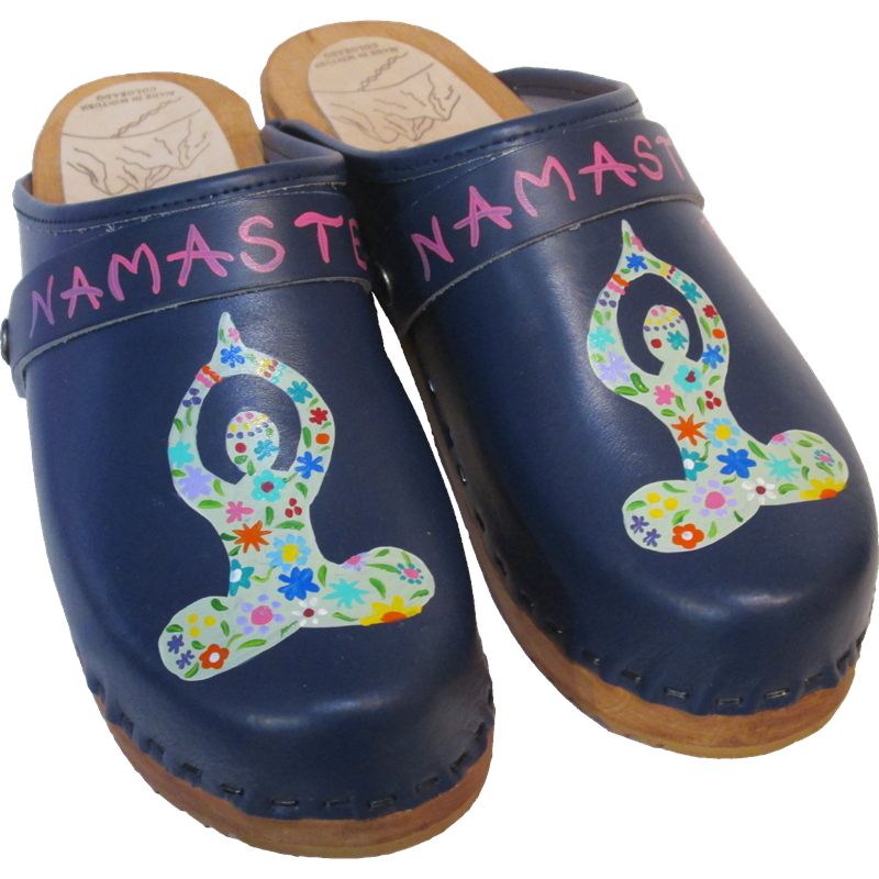 Traditional Heel Blue Namaste