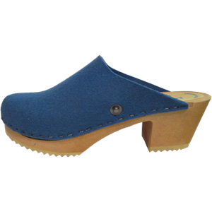 Tessa High Heel Felt Wool Wedgewood Blue
