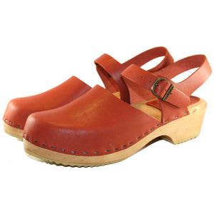 Traditional Heel Clogs in classic swedish style moa sandal
