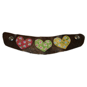 Flex Nougat with your choice of Hand Painted Heart Snap Strap