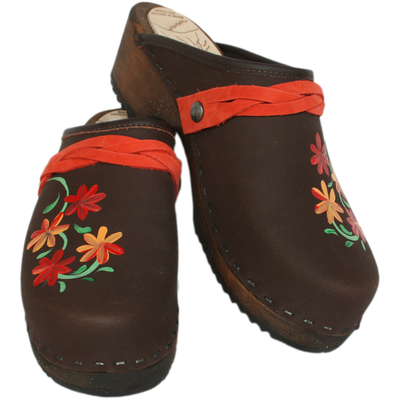Traditional Heel Brown Oil Axelina-Orange/Red