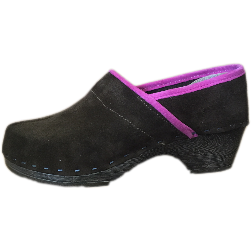 Tessa Flex Closed Back Clog in Brown Suede - made in Minturn, CO
