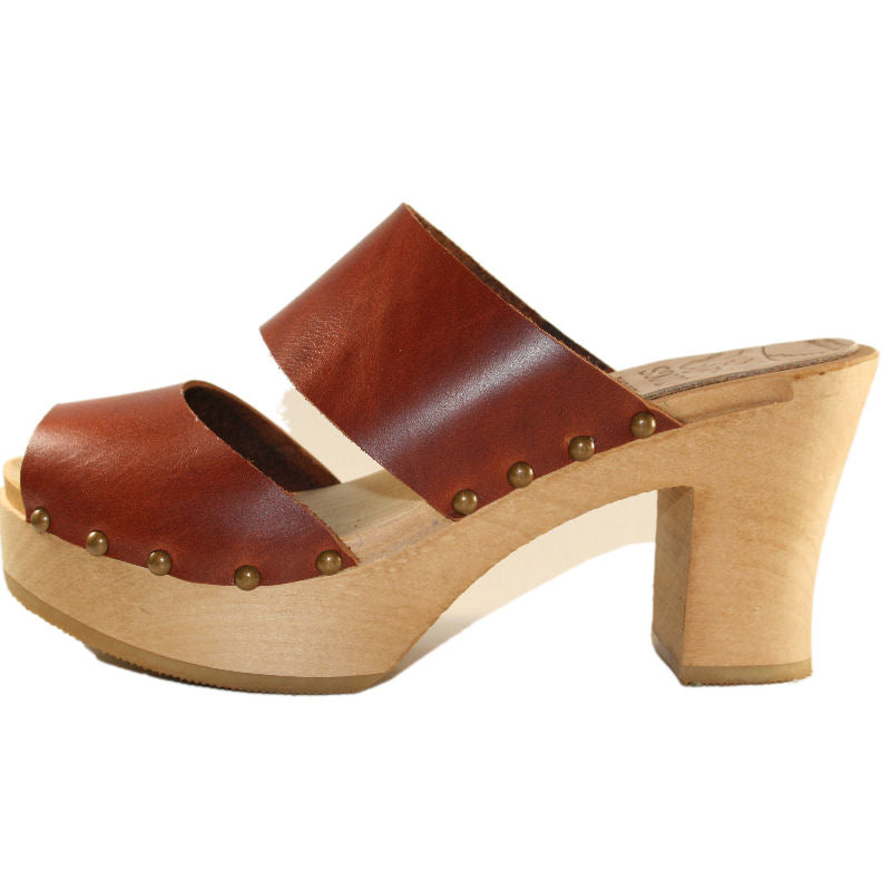 Chestnut Brown Vegetable Tanned Leather Ultimate High Sandal