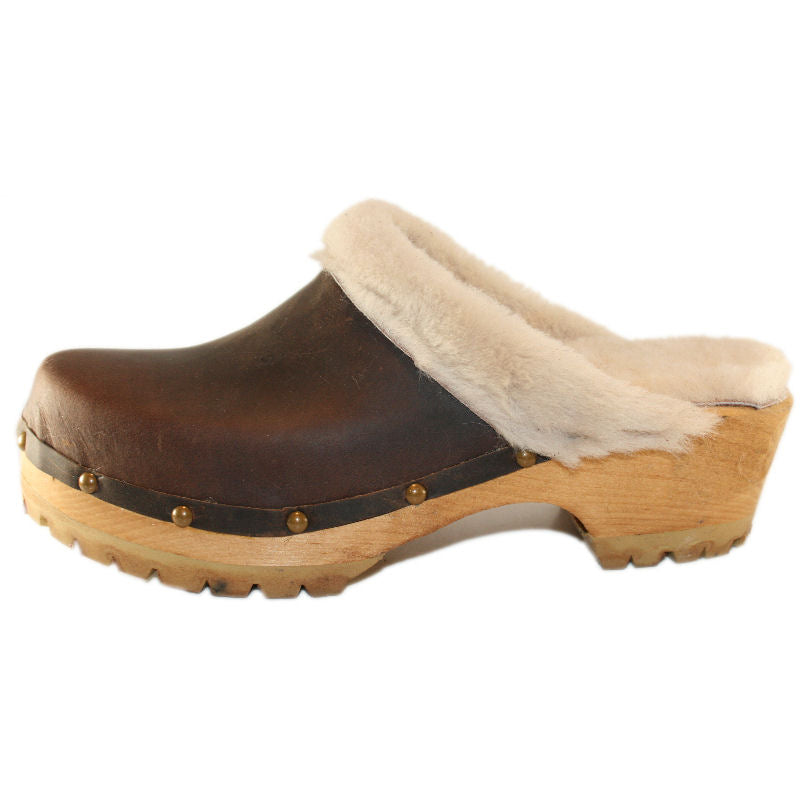 Tessaclogs  Shearling Clogs
