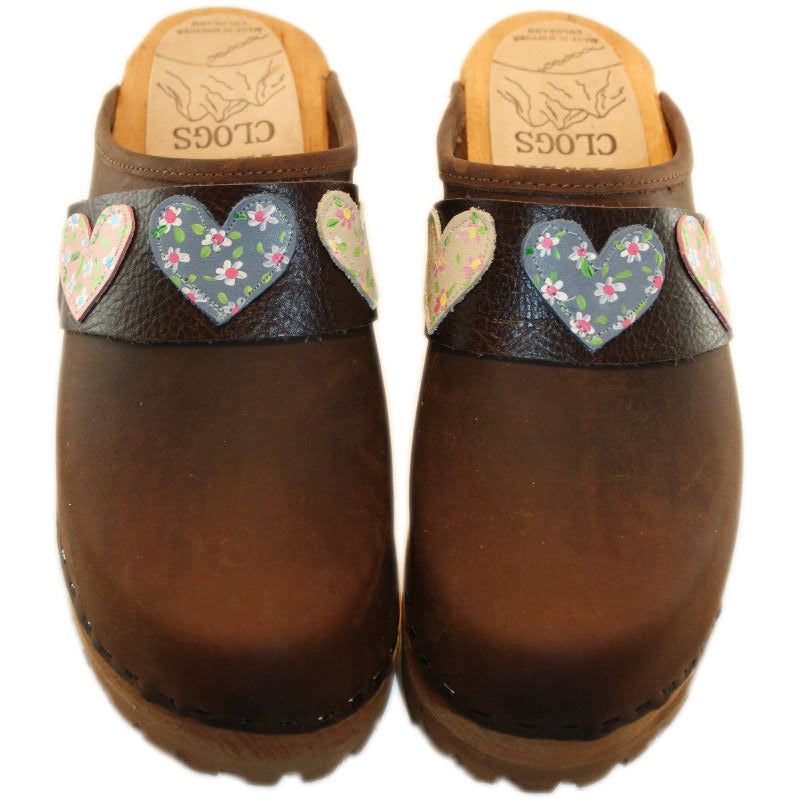Mountain Sole Dark Chocolate with your choice of Hand Painted Heart Snap Strap