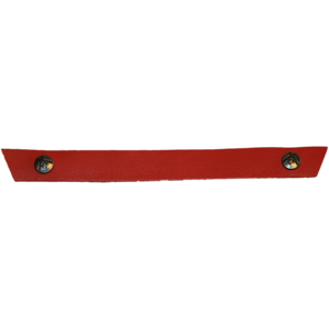 Tessa Narrow Coral Red Snap Strap