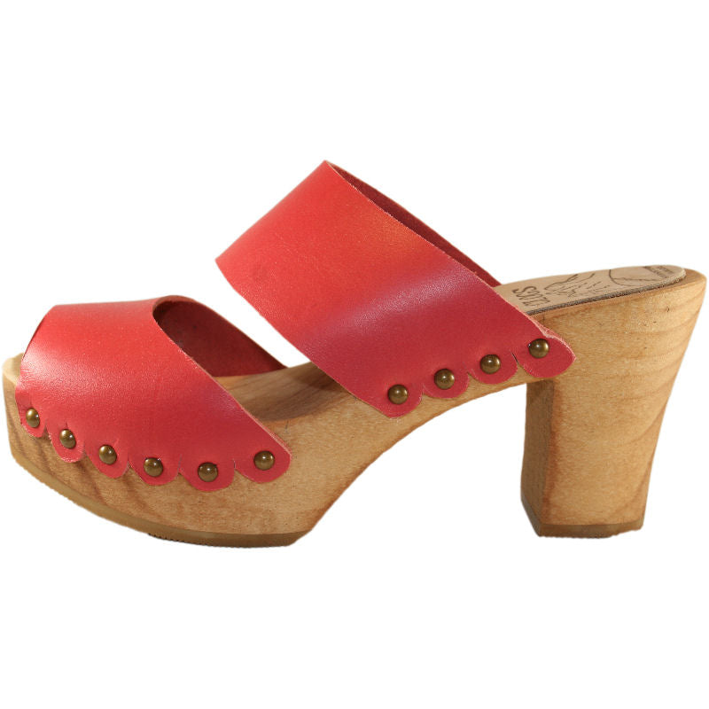 Ultimate High Coral Red Two Strap Sandal