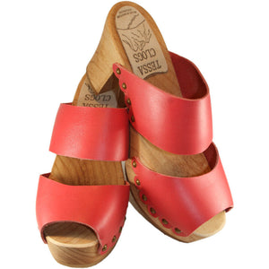 Coral Red Ultimate High Two Strap Sandal