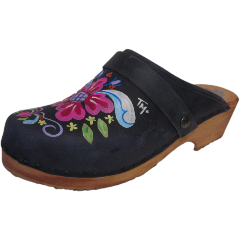 Traditional Heel Denim Blue Petra