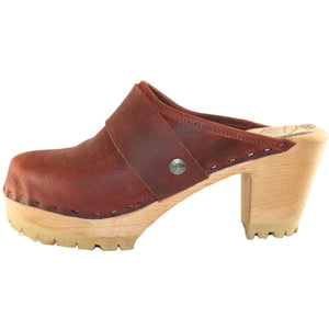 Dark Brick High Heel Mountain Snap Strap